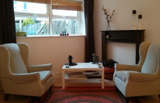 Consulting Room of London Registered Psychotherapist Karl Hill
