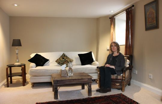 Consulting Room of Cullompton Registered Psychotherapist Kay Luck
