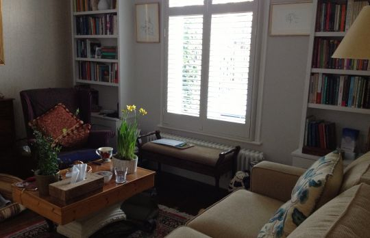 Consulting Room of London Registered Psychotherapist Ulla Andrews