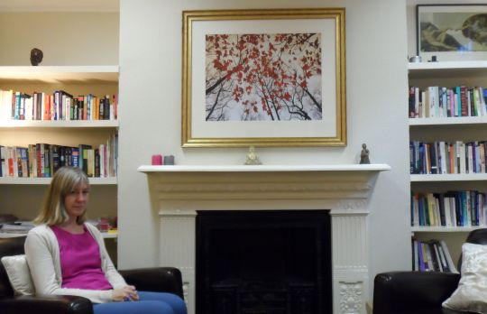 Consulting Room of London Registered Psychotherapist Anne Fullam
