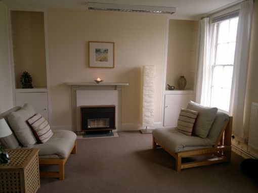 Consulting Room of Exeter Registered Psychotherapist Colin Sutton
