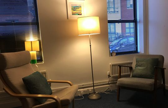 Consulting Room of Berkhamsted Registered Psychotherapist Robert Cuming