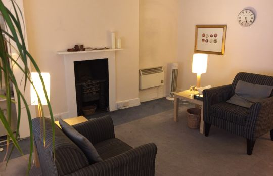 Consulting Room of London Registered Psychotherapist Janet Palmer