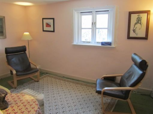 Consulting Room of Cambridge Registered Psychodynamic Psychotherapist Anthony Bailey