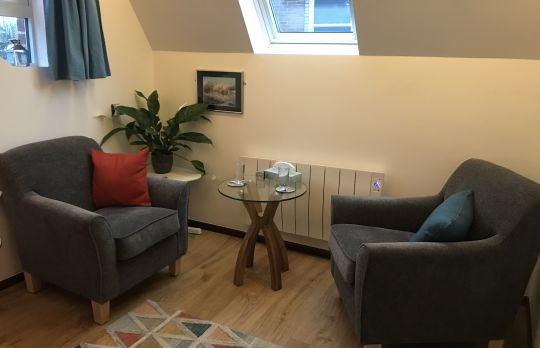 Consulting Room of Malvern Accredited  Counsellor Sue Akehurst