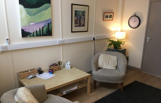 Consulting Room of Canterbury Registered Counsellor Anna Morgan