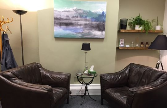 Consulting Room of Manchester Registered Counsellor Pam Arland