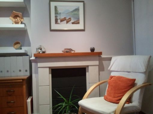Consulting Room of London Registered Psychotherapist Roselyn Abbott