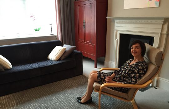 Consulting Room of London Registered Psychotherapist Myriam Laplanche