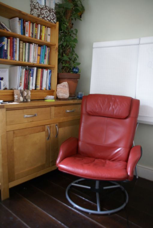 Consulting Room of London Registered Psychotherapist Richard Evans-Lacey