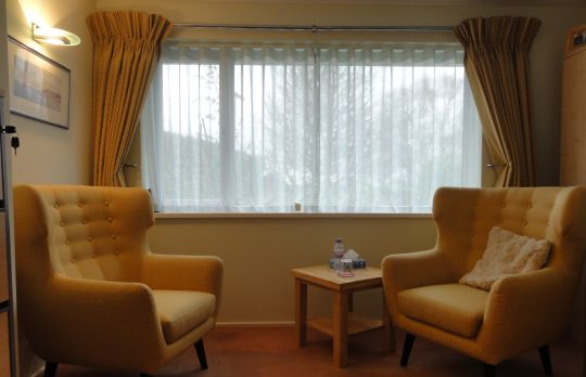 Consulting Room of Reigate Chartered Psychologist Dr. Adrian Morton