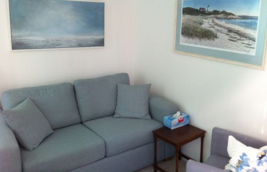 Consulting Room of Whitstable Accredited  Counsellor Ruth Morgan-Jones