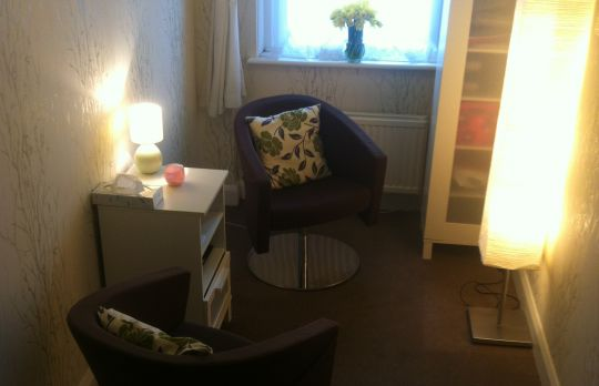 Consulting Room of London Registered Psychotherapist Teresa Sinani