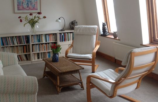 Consulting Room of Richmond Registered Psychotherapist Bobbie