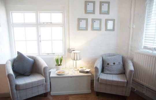 Consulting Room of Forest Row Registered Psychotherapist Lisa Stimpson