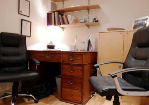 Consulting Room of London Accredited and Registered Counsellor and Psychotherapist Evelyne Riddle