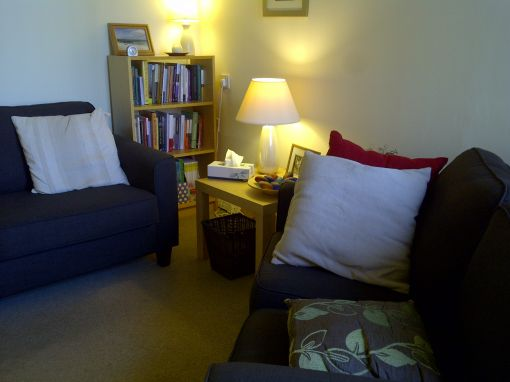 Consulting Room of Lanark Accredited  Counsellor Alison Cumming