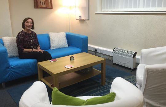 Consulting Room of Wilmslow Registered Counsellor Lyn Tonks