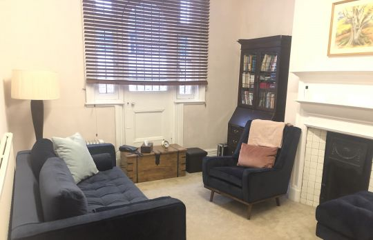 Consulting Room of London Registered Psychotherapist Anthony Graham