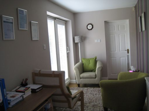Consulting Room of Warrington Accredited Counsellor and Psychotherapist Sue Wilkes