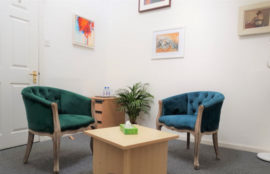 Consulting Room of Chichester Accredited  Counsellor Geoff Boutle