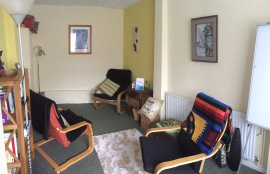 Consulting Room of Colchester Registered Psychotherapist Tom Barber