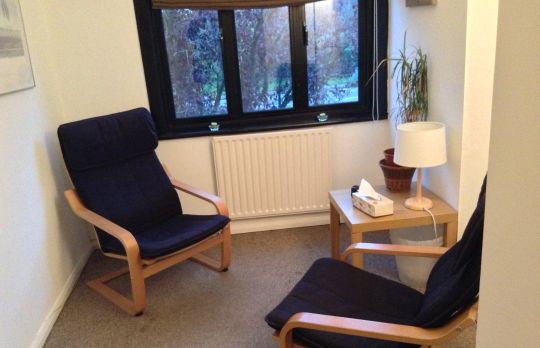 Consulting Room of Borehamwood Registered Counsellor Alex Dalziel