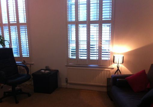 Consulting Room of London Registered Psychotherapist Henrietta Palmer