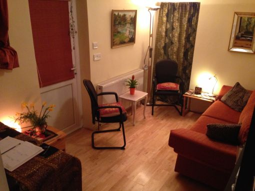 Consulting Room of London Registered Counsellor and Psychotherapist Christine Shah