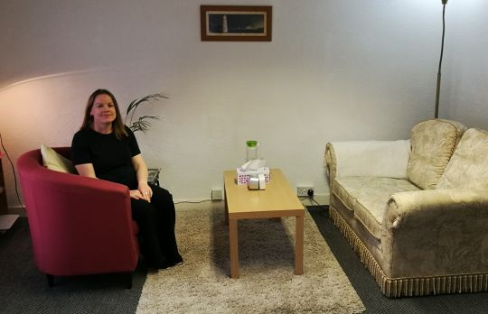 Consulting Room of Wimborne Registered Counsellor Joanna Marlor