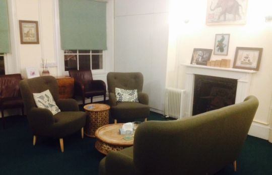 Consulting Room of London Registered Psychotherapist Belinda Wilson
