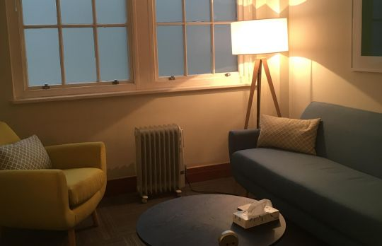 Consulting Room of London Registered Counsellor Carole Simpkins