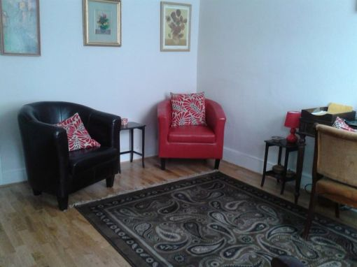 Consulting Room of Watford Accredited  Counsellor Maria Evans