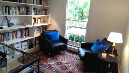 Consulting Room of London Registered Psychotherapist Rossella