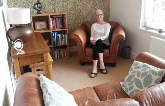 Consulting Room of Tadcaster Registered Psychotherapist Bev Gibbons