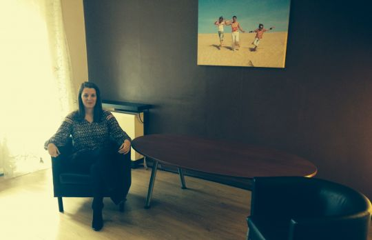 Consulting Room of Bristol Accredited Psychotherapist Paula Deshe