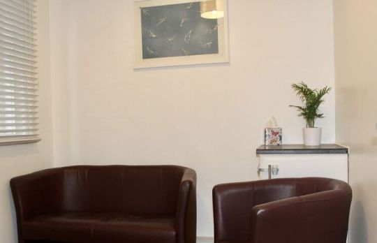 Consulting Room of Emsworth Registered Counsellor Angela Hughes