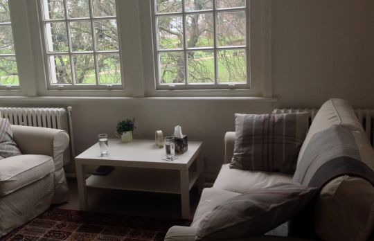 Consulting Room of London Registered Psychotherapist Christine Fortune