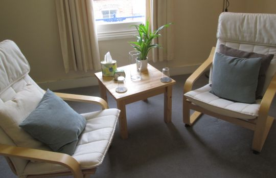 Consulting Room of Guildford Registered Counsellor Emma Smith