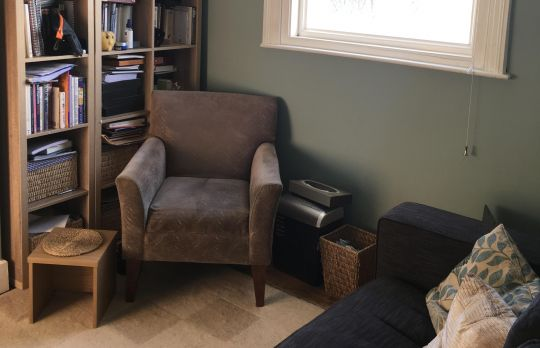 Consulting Room of Brighton Accredited  Counsellor Paul Bowley