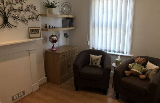 Consulting Room of Eastbourne Accredited  Counsellor Hilary Tibble