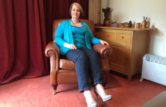 Consulting Room of Malmesbury Accredited  Counsellor Sarah Briggs