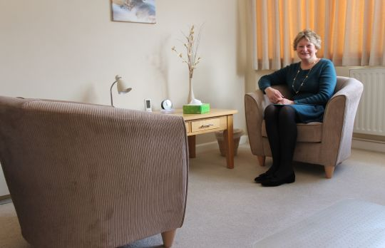 Consulting Room of Lymington Accredited  Counsellor Jane Chislett-Bruce