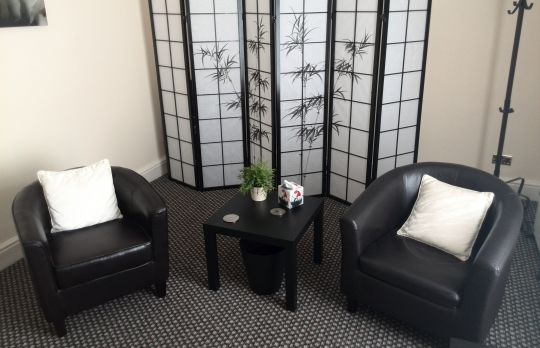Consulting Room of Warrington Registered Counsellor and Psychotherapist Paul Whittingham