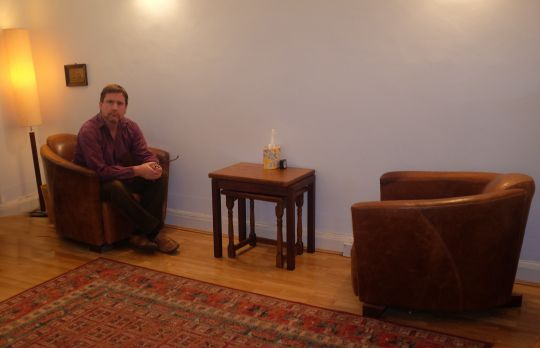 Consulting Room of London Registered Psychotherapist Sam Palmer