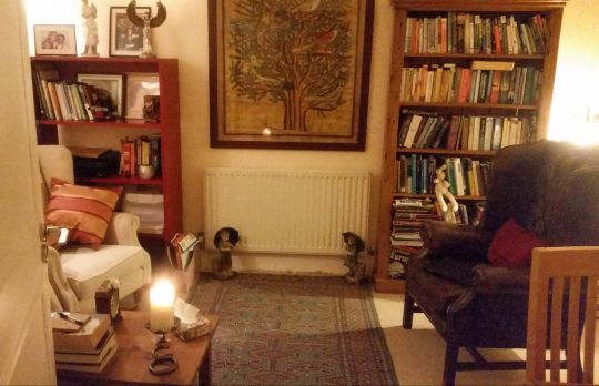 Consulting Room of London Registered Psychotherapist Dianne Young