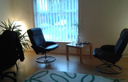 Consulting Room of Manchester Chartered Psychologist Sandi Mann