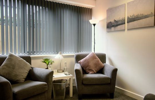 Consulting Room of Guildford Registered Counsellor Sharon Green