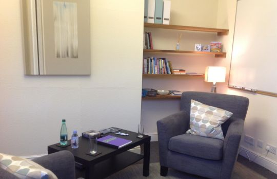 Consulting Room of Ilkley Registered Counsellor Anita Dunford