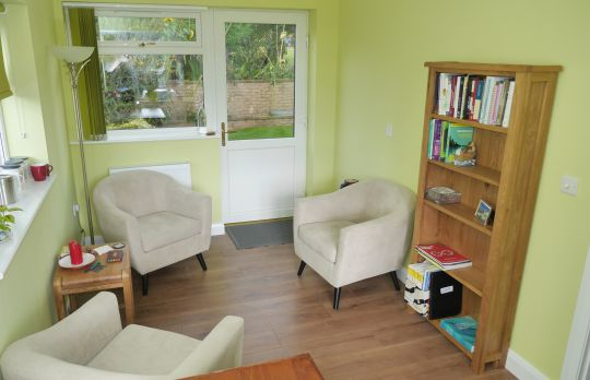 Consulting Room of Ashby-de-la-Zouch Registered Psychotherapist Chris Lewis
